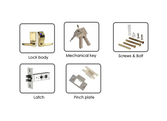 Anti Scratch Fingerprint Lock Low Voltage Warning For Apartment