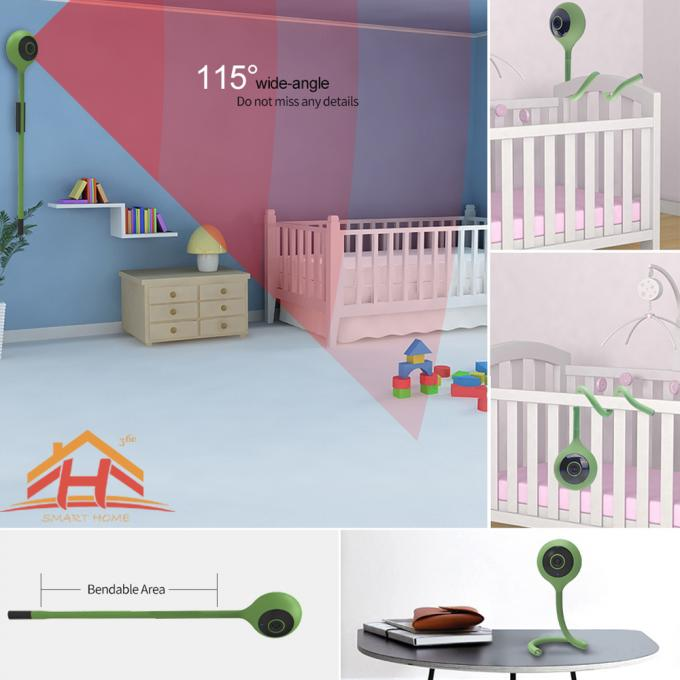 Wide Angle Cute Smart Home IP Camera For Baby Monitor With Take Video Function