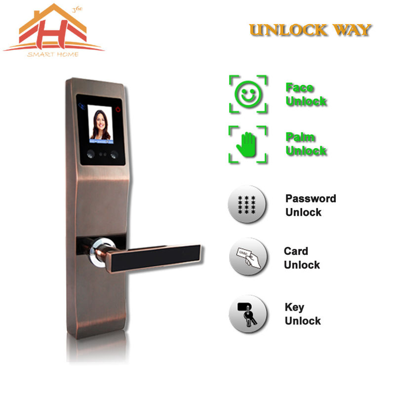 Face And Fingerprint Entry Door Lock With With Anti Peephole Structure