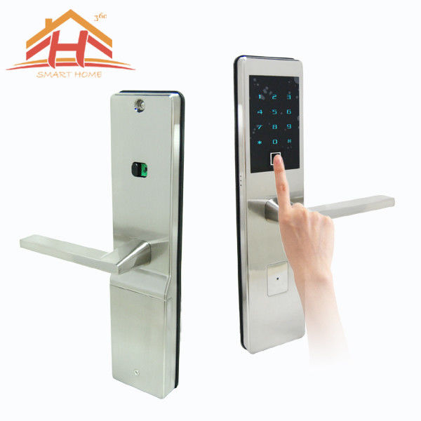 Bluetooth Touch Screen Fingerprint Door Lock Low Voltage Warning with IC Card