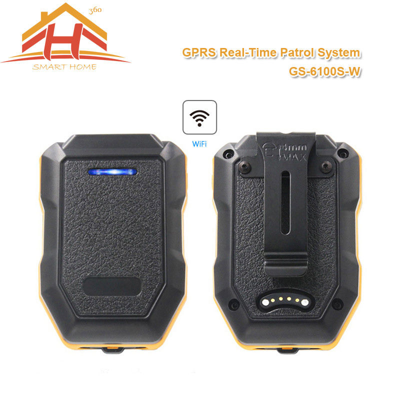 Waterproof Black GSM Guard Tour Monitoring System With Real Time Transfer