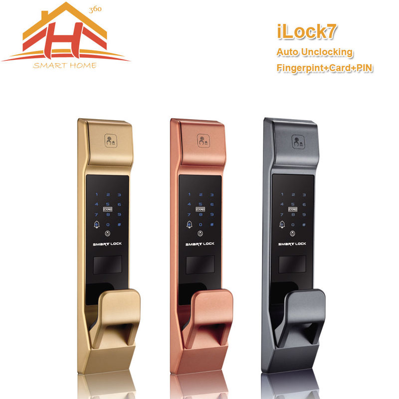 Auto Uncloking Fingeprint door Lock with IC and Password Function