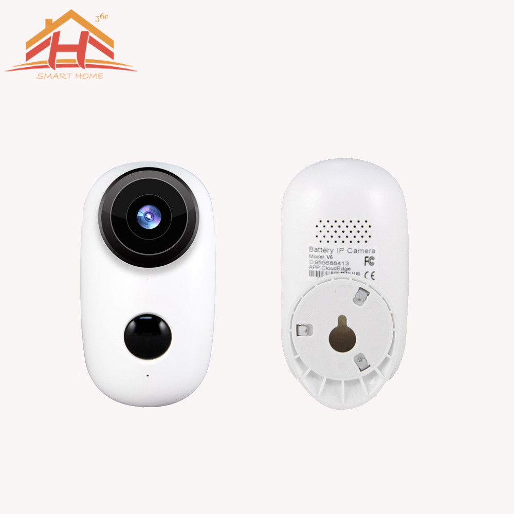 720P HD Wireless Mini IP Camera with Battery and Support 360