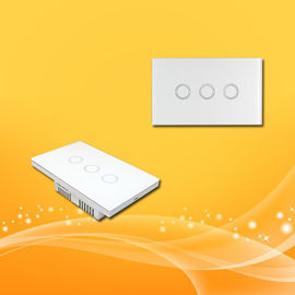 Wifi Controlled Dimmer Switch , Home Automation Switches Light Switch Touch Panel