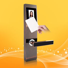 Safety Finger Touch Keypad RFID Card Door With Palm And Face Recognition
