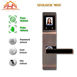 China Zinc Alloy Interior Face And Biometric Fingerprint Door Lock 8-12 Months Life factory