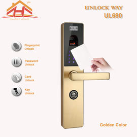 China Touch Screen RFID Card Biometric Fingerprint Door Lock With Keyless , CE / FCC factory