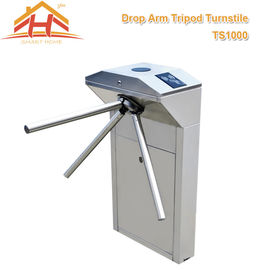 Biometric Drop Arm Tripod Turnstile Gate RFID Reader And SUS304 Stainless Steel