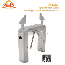 China Gym Football Fingerprint Access Control Turnstile For Entrance , Metal Turnstile Gate factory