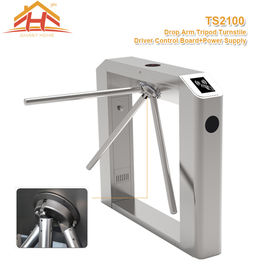 Little Power Access Control Turnstile Barrier Silent Operation Compact Designed